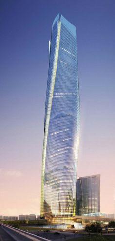 Botai Tower, Nanchang, China by Gensler Architects :: 65 floors, height 315m