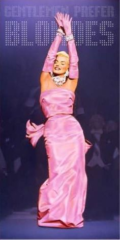 """The shocking pink strapless dress Marilyn Monroe wore to perform """"Diamonds are a girl's best friend"""" in Gentlemen Prefer Blondes in 1953 became one of her most famous outfits Brigitte Bardot, Hollywood Glamour, Classic Hollywood, Old Hollywood, Gentlemen Prefer Blondes, Fotos Marilyn Monroe, Marilyn Monroe Dresses, Marilyn Monroe Diamonds, Marylin Monroe Pictures"""