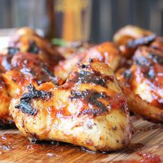 These bourbon maple BBQ chicken wings are the bomb. Grilled with an incredible rub and then finished with an amazing bourbon maple sauce.