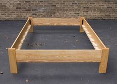 Simple Full Size Platform Bed Frame Custom Made from American by MountainMuleHardwood Platform Bed With Storage, Platform Bed Frame, Platform Bed Plans, Bed Hardware, Diy Bed Frame, Bed Frames, Wooden Bed Frame Diy, Simple Bed Frame, Diy Bett