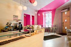 Café Foam, Coffee Shop Design by Note Design Studio Design Shop, Note Design Studio, Cafe Design, Cool Cafe, Coffee Shop Interior Design, Coffee Shop Design, Bakery Design, Restaurant Design, Cafe Bar
