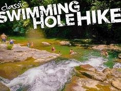 Classic Swimming Hole Adventure Green River neart Asheville NC.... lots of fun things to do ...kayaking as well