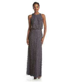 Adrianna Papell® Beaded Halter Gown | Younkers