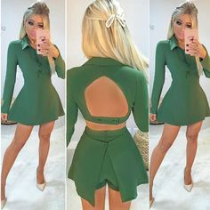 OMG!! 😱😱😱 Que conjunto mais chique e elegante que acabou de chegar 💙✨ Cropped + pantalona LUXO!!! 😍😍😍 Um ARRASO! Freakum Dress, Dress Skirt, Amanda, Ideias Fashion, How To Look Better, Fashion Looks, Two Piece Skirt Set, High Neck Dress, Peplum