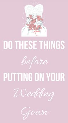 The day is finally here--it's your wedding day. But wait, before you put on your dress, here are six things experts say you should do, on SHEfinds.com
