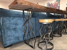 Bar Height Table Diy, Iron Table Legs, Forest Design, Welding Table, Iron Furniture, Table Plans, Rustic Wood, Dining, Beautiful Forest
