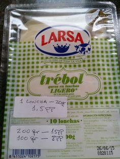 LARSA QUE LIGERO 1 loncha: 1,5pp // 2 lonchas: 3pp