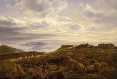 """""""Summit Of Mount Washington In The White Mountains,"""" Ferdinand Richardt, 1857, oil on canvas, 26 x 38"""", private collection."""