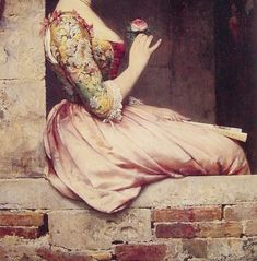 Detail from The Rose by Eugene de Blaas