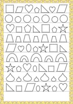Trace the Dotted Lines Worksheets for Kids - Preschool and Kindergarten Tracing Worksheets, Alphabet Worksheets, Kindergarten Worksheets, Worksheets For Kids, Preschool Activities, Autumn Activities, Preschool Writing, Preschool Learning, Teaching Kids