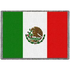 Flag of Mexico Art Tapestry Throw