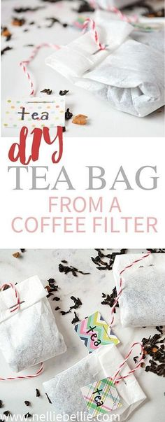 Diy tea bags from coffee filters in only a couple steps. Use this easy to follow tutorial to make homemade tea bags. Video tutorial included!
