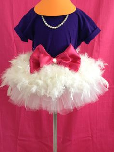 Ladies Daisy Duck Inspired Feather Tutu Tee & by TreasuredTutu, $75.00