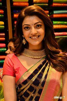 Indian Film Actress, South Indian Actress, Indian Actresses, Bollywood Fashion, Bollywood Actress, Tamil Actress, Bollywood Stars, Kajal Agarwal Saree, Perfect Beard