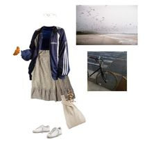 """""""croissant"""" by paper-freckles ❤ liked on Polyvore featuring GUESS, Golden Goose, Hayward and Oliver Peoples"""