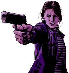 Detective Renee Montoya of the Gotham City Police Department before her days as The Question in the pre-New 52 DC Universe (art by Michael Lark; created by Sean C Derek, Laren Bright and Mitch Brian)