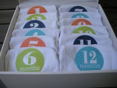 Baby Shower Gift....Monthly Onesies for photos. aimeemallory1 - click image for more like this -