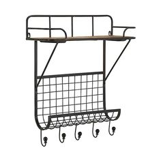 Your walls will be looking neat and tidy once you hang up this ruggedly imagined metal shelf. With two surfaces and five stylized hooks, it's a natural choice for the bath or entry.  Find the City Platform Wall Shelf, as seen in the #ChalkitUp Collection at http://dotandbo.com/collections/chalkitup?utm_source=pinterest&utm_medium=organic&db_sku=101437