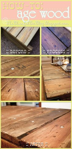 A few weeks ago I posted about my recent { DIY Factory Cart Table }. During that process, I discovered an amazing process to aging wood. In the past when I needed to age wood for a project, I … Age Wood, Wood Crafts, Diy Crafts, Sewing Crafts, Creation Deco, Reno, Home Projects, Decoration, Just In Case