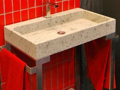 Lavabo da appoggio rettangolare in pietra naturale ZETA By Danilo Ramazzotti design Danilo Ramazzotti