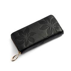 Tienda online de carteras cartera de cuero largo mujeres