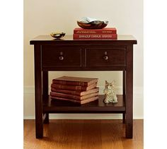 Farmhouse 2-Drawer Bedside Table #potterybarn maybe for Brennan's side?