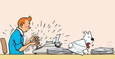 1965 ❘ Tintin répond à son courrier — Tintin responding to his letters ☼ Illustration pour la rubrique du journal Tintin « #Tintin répond à ses amis » à partir du 18 mai 1965. #Herge