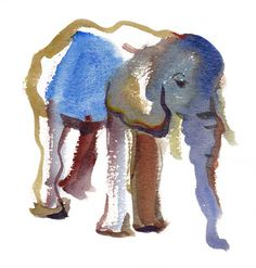**could do a water color-esque elephant tattoo, trunk up, less sad looking**