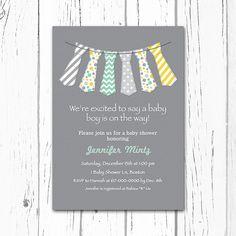 Little Man Tie Baby Boy Shower Invitation by DesignedbyGeorgette