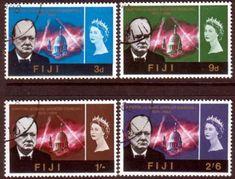 Fiji 1966 Churchill Set Fine Used SG 345 348 Scott 215 218  Other Fiji Stamps HERE