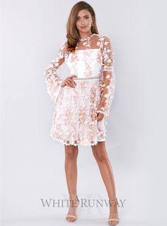 Gabriel Dress. A stunning cocktail dress by Pasduchas. A high neckline  featuring 3D ruffles f11236fa42c