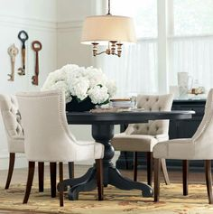 A round dining table makes for more intimate gatherings. - Home Decor & RHu0027s 17th C. Priory Round Dining Table:Popularized during the Middle ...