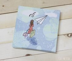 Paper Plane  Canvas Print  Canvas Wall Art  Girls by CutTheFish, $36.00