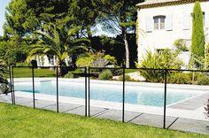 Barrière de protection pour piscine - livrée par module de 3 m de long