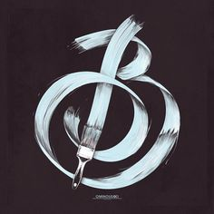 B – Brush A brush is just a brush 'til you use it to express your thought in Typography