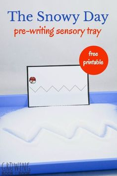 Enjoy The Snowy Day book by Ezra Jack Keats and then let the kids do this book activity and work on pre-writing skills.