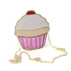 Caichirstmas Gift Yummy Famous Cupcake Design Woman Crossbody Bag Attractive Icecream Party Small Shoulder Bag Exquisite Handbag Cr07 cupcake * You can get additional details at the image link.