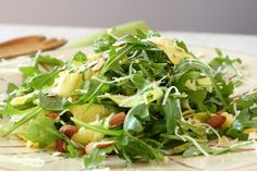 Arugula Greens with Squash and Pecorino Salad
