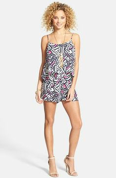 Everly Print Layered Romper (Juniors) available at #Nordstrom