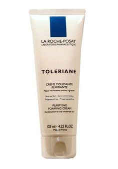 La Roche-Posay Toleriane Purifying Foaming Cream Cleanser for Combination to Oily Intolerant Skin (125ml) 4.22 Fluid Ounces***Safely cleanses delicate facial skin,Rises easily, preventing irritation or overdrying,Fragrance-free, preservative-free,.