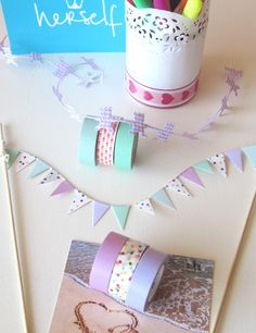 My Washi Tape: fairy garden bunting?