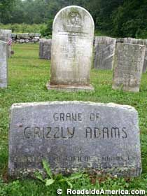 "Not TV's mangy mountain man, but the real ""Grizzly Adams,"" who killed or befriended bears depending on his mood. Cemetery Monuments, Cemetery Statues, Cemetery Headstones, Old Cemeteries, Cemetery Art, Graveyards, Angel Statues, Grizzly Adams, Unusual Headstones"