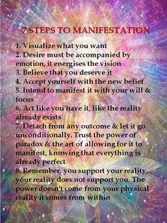 7 steps to manifestation