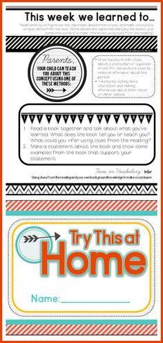 Want an easy way to communicate learning to parents? Home Learning Notes: Attach to your classroom newsletter to help parents reinforce learning at home. (CCSS aligned) $