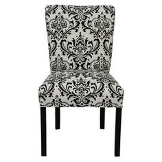 graphic black and white chair