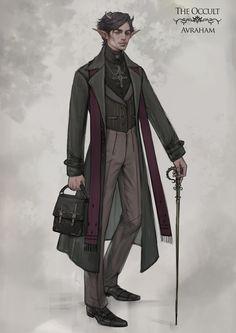 Dahlia -The Occult Character Design, Nazanin Nemati on ArtStation at https://www.artstation.com/artwork/bd5vn