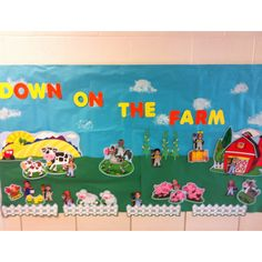 Down on the farm bulletin board... Students pictures were used to make farmers!