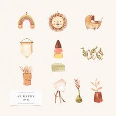 House Clipart, Wood Logo, Wooden Baby Toys, Book Illustration, Illustrations, Boho Nursery, Baby Carriage, Boho Baby, Cute Pattern