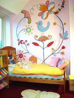 Little Bird Room Little Bird Room «Mein neues Zimmer Little Girl Rooms, Kid Spaces, Kids Decor, Girls Bedroom, Bedrooms, Bedroom Wall, Wall Murals, Wall Art, Wall Decal
