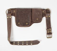 Hitchhiker Hip Pack Utility Belt - Bomber Jacket Brown | Warrior Creek - Unique Fashion Accessories